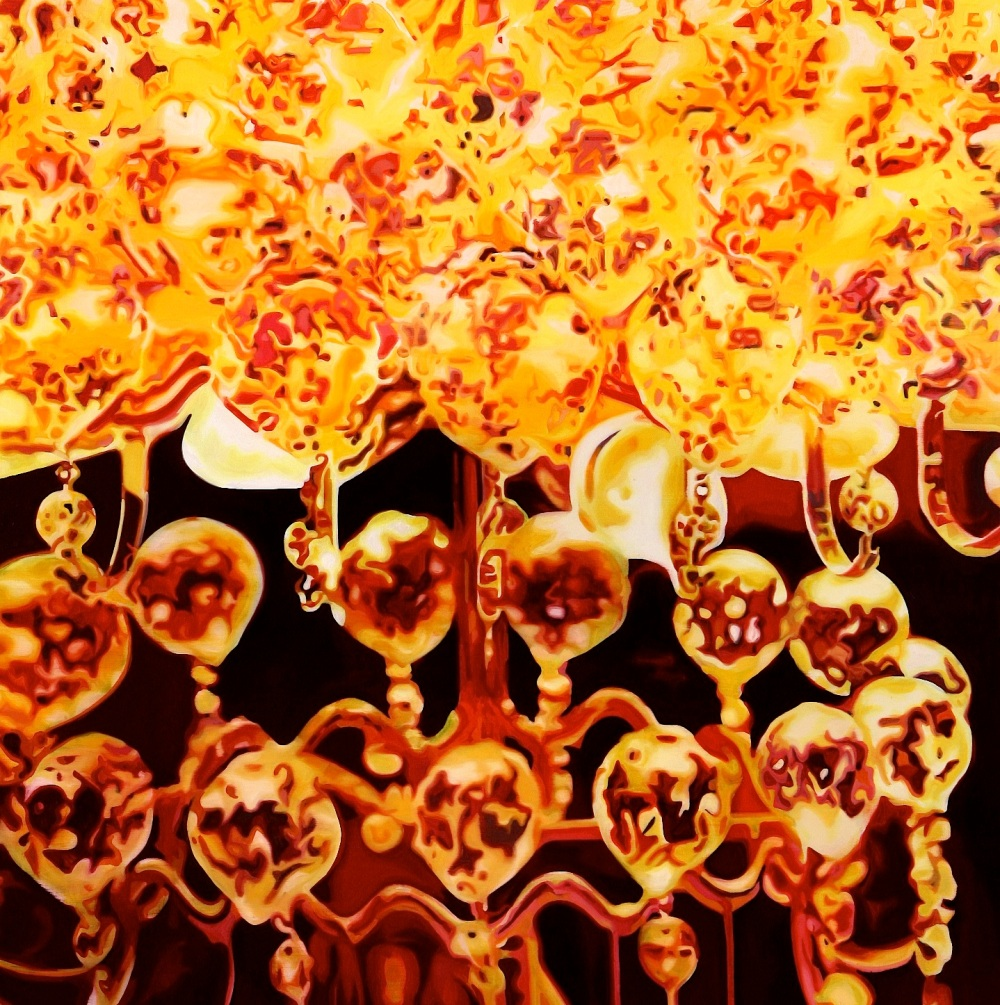 Chandelier Light | Oil on canvas | 130x130 cm | 2010