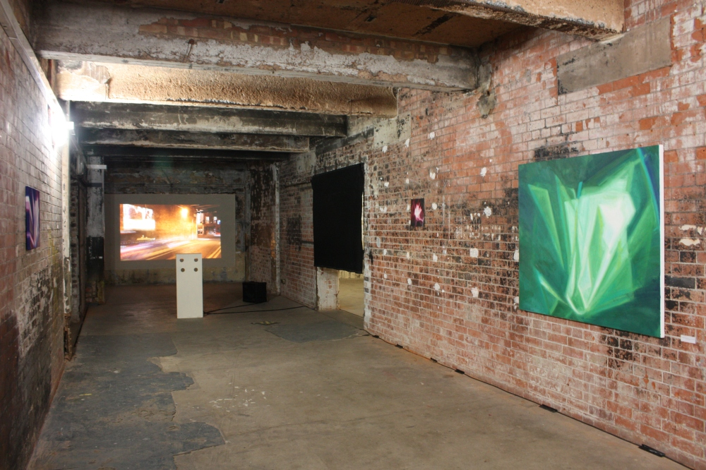 Installation view in BargeHouse, 2014.