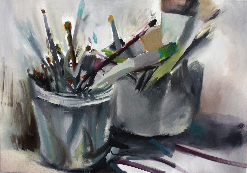 Brushes | Oil on canvas | 59.5x84cm | 2014
