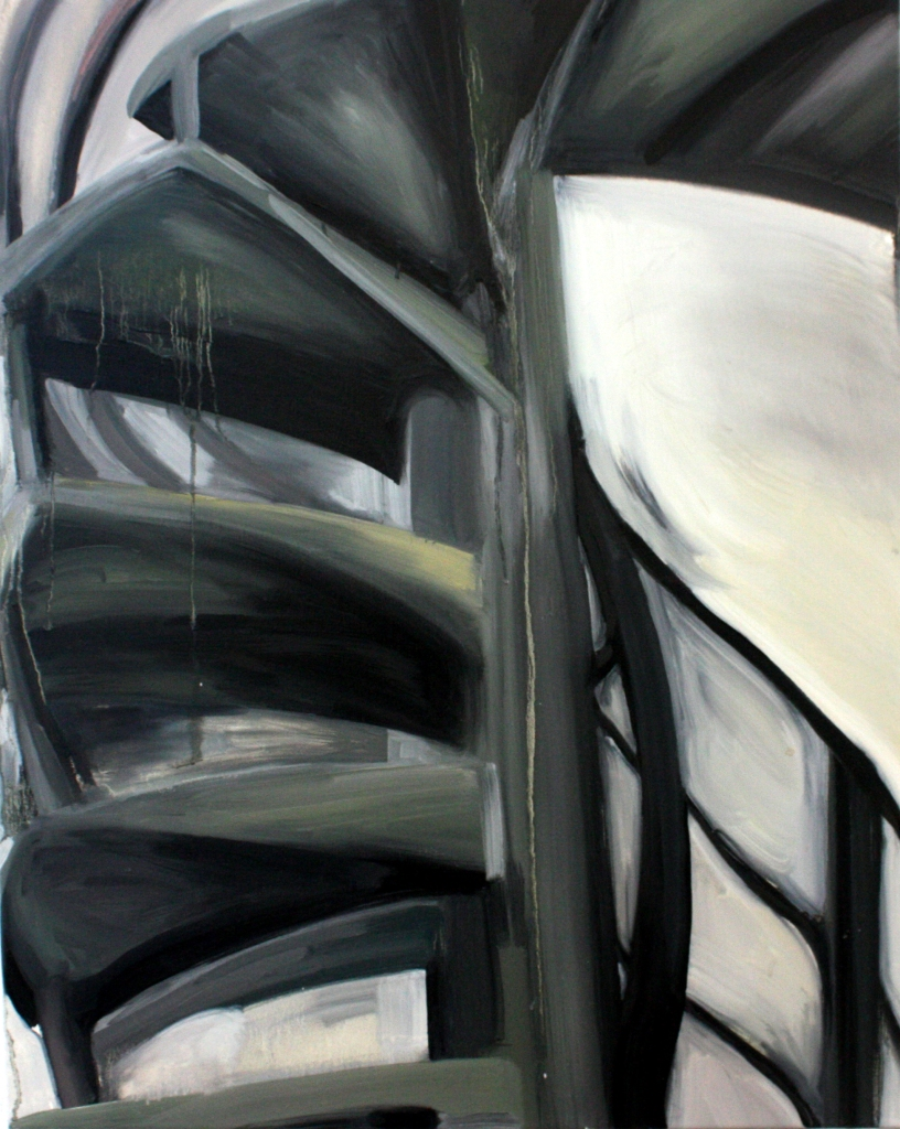 A staircase at the Slade | 75x61 cm | Oil on canvas | 2014